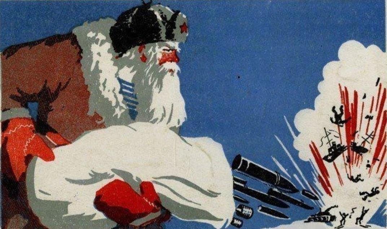 дед мороз военный открытка прочим
