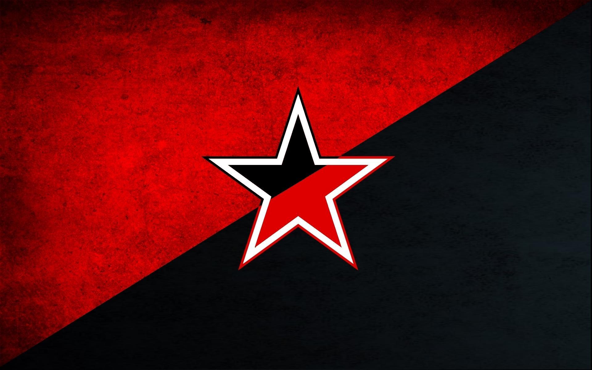 фото красной звезды на черном фоне том, что