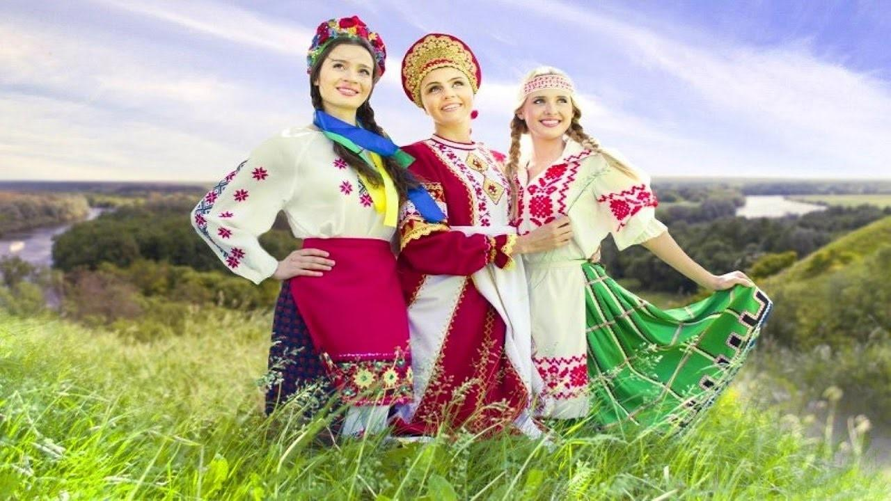 Днем рождения, открытка народы россии